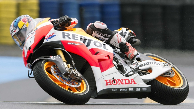 Dani Pedrosa in action at the French GP
