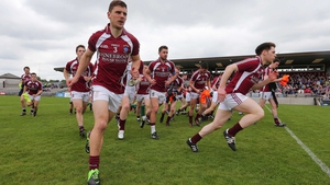 Westmeath players burst away from the team photograph ahead of their Leinster SFC tie with Carlow