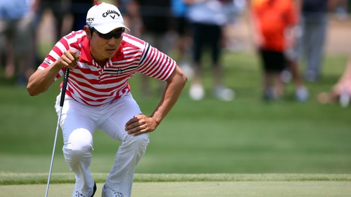 Bae Sang-moon sank a crucial birdie on the 16th hole