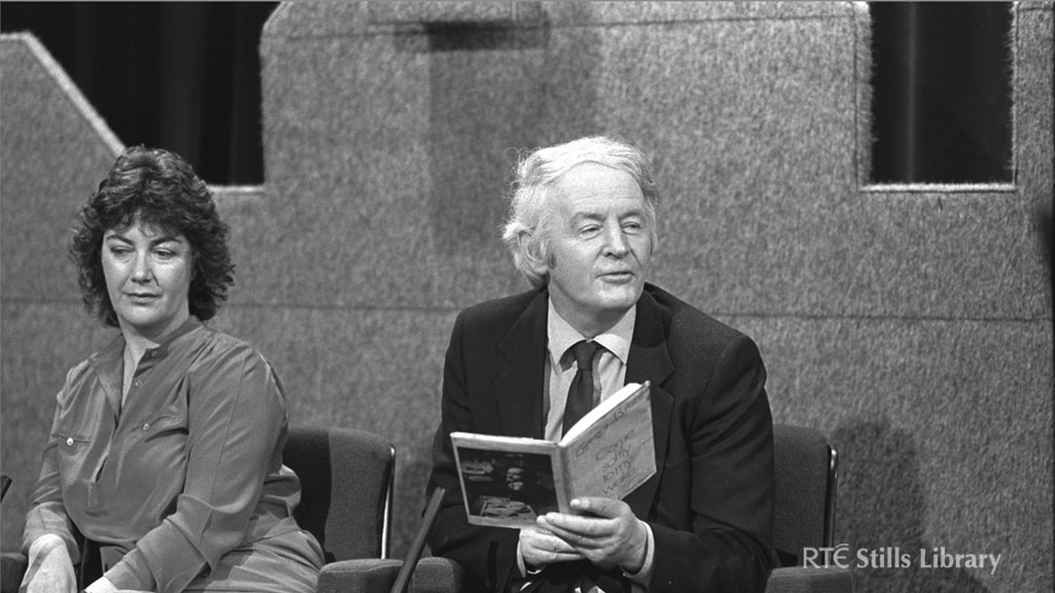 Nuala O'Faolain and Ulick O'Connor on 'The Late Late Show' in 1983