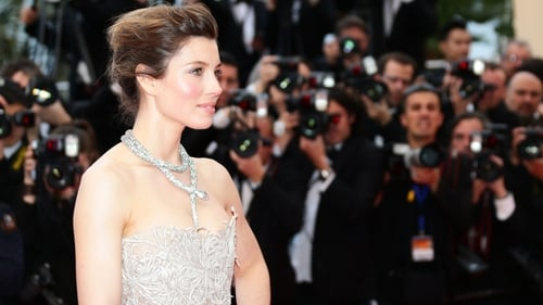 Biel in Marchesa at Cannes