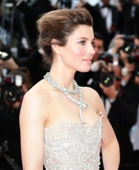 Biel stuns in Marchesa at Cannes