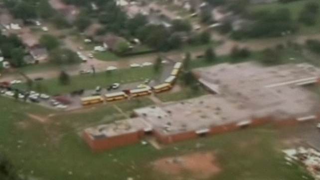 The school in Moore was hit by a massive tornado