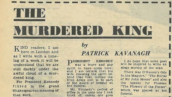 The Murdered King by Patrick Kavanagh, RTV Guide, 1963