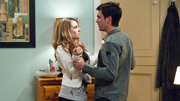 Cain is the victim of a ploy from Adam, with Natalie - one of the farm shop suppliers