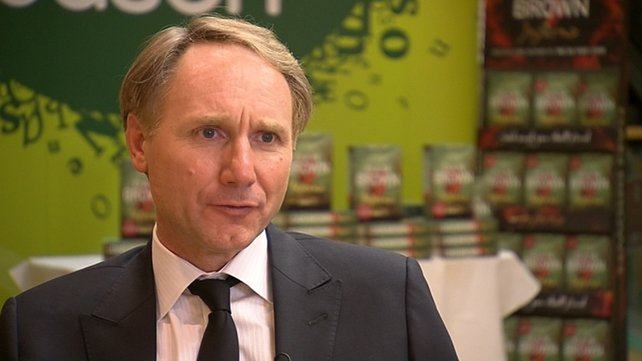 Dan Brown addressed an audience as part of the Dublin Writers Festival