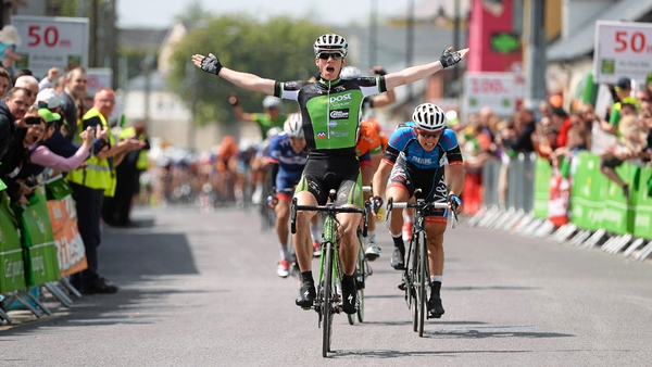 Sam Bennett wins stage three of the An Post Rás in Listowel
