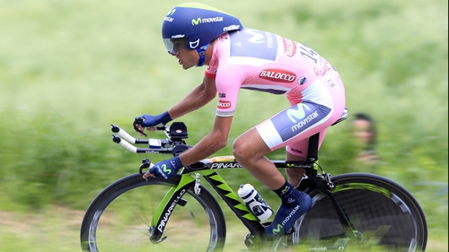 Benat Intxausti took stage 16 of the  Giro d'Italia