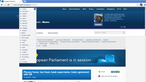 Irish is currently the only one of the EU's 23 official languages not included on the site