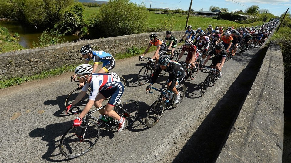 A general view of the peloton between Cappaghmore and Boher