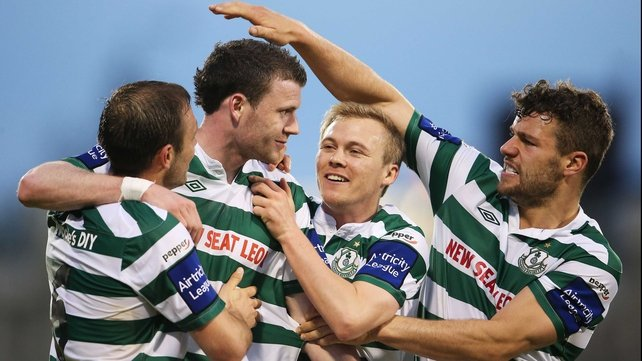 Shamrock Rovers host Shelbourne in the late kick-off