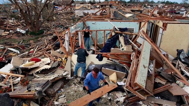 Residents of Moore have begun returning to what is left of their homes