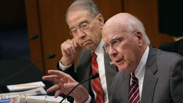 Committee chairman Patrick Leahy withdrew an amendment on same-sex partners before the vote