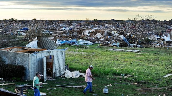 The tornado caused widespread devastation around Oklahoma City