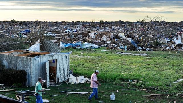 The tornado caused widespread devastation around Oklahoma City