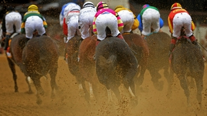 The field races during the 138th running of the Preakness Stakes at Pimlico Race Course in Baltimore, Maryland