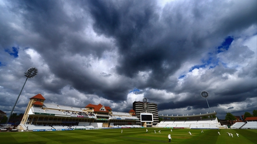 Clouds loom during the County Championship match between Nottinghamshire and Surrey at Trent Bridge
