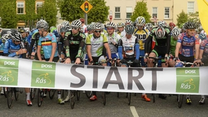 The start line of stage four at Listowel