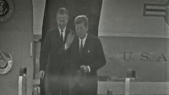 President Kennedy Arrives At Dublin Airport (1963)