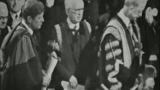 President Kennedy Receives an Honorary Degree at Dublin Castle, 1963