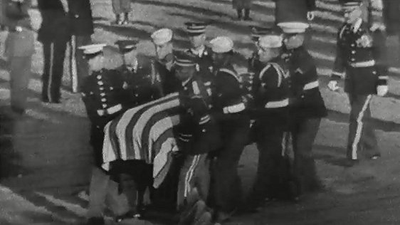 Irish Cadets Form Guard of Honour at President Kennedy's Graveside, 1963
