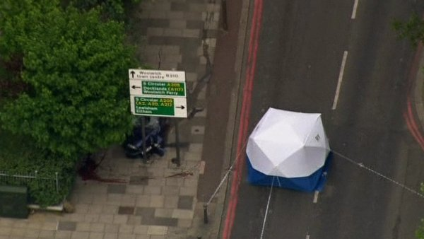 London Ambulance Service confirmed a man was found dead at the scene