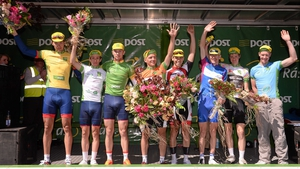The full compliment of stage-four podium winners at Listowel