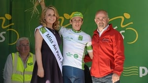Simon Yates (Great Britain National Team) with the Irish Sports Council under-23 leader's jersey