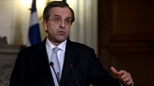 The coalition led by Antonis Samaras is currently negotiating with Troika lenders