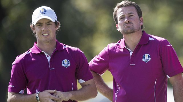 Rory McIlroy and Graeme McDowell will play alongside each other in the first two rounds of Europe's flagship event
