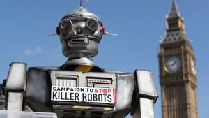 A robot used to promote a campaign against autonomous weapons in London last month