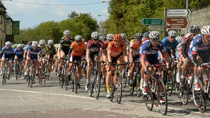 A general view of the peloton