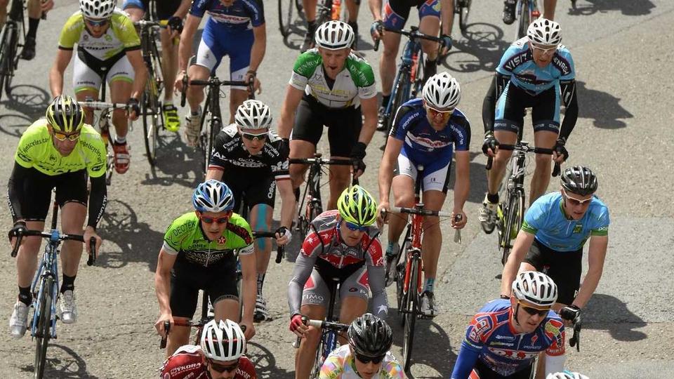 The peloton going through Mallow, Co Cork