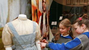 Judy Garland's Wizard of Oz costume is on display in Ireland