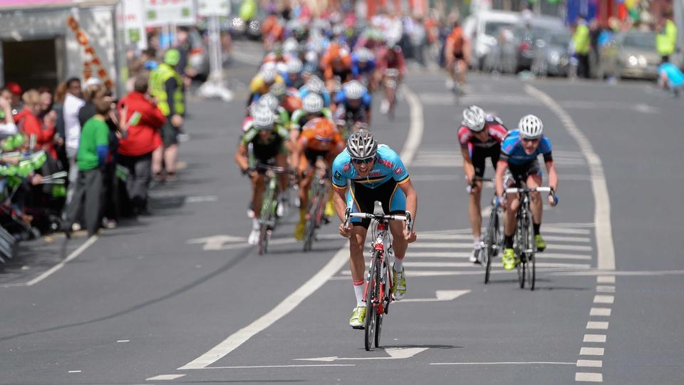 De Pauw (Belgium National Team) speeds away on his way to winning stage five