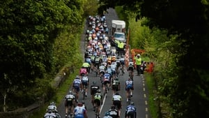 The peloton leave Doneraile
