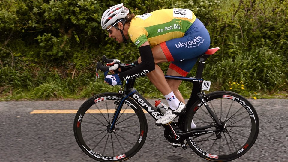 Marcin Bialoblocki pumps the legs