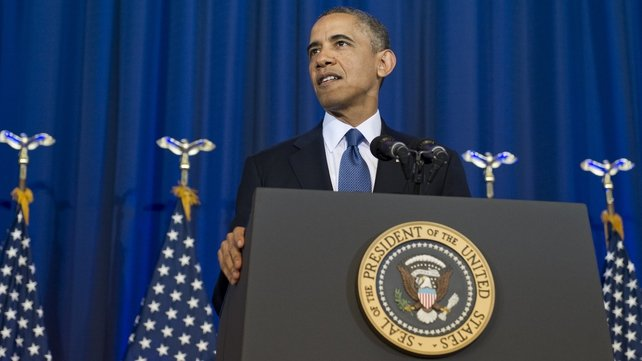 Barack Obama said the US was still threatened by terrorists