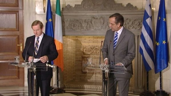 The Taoiseach said he impressed upon Antonis Samaras the importance of creating a business climate in Greece
