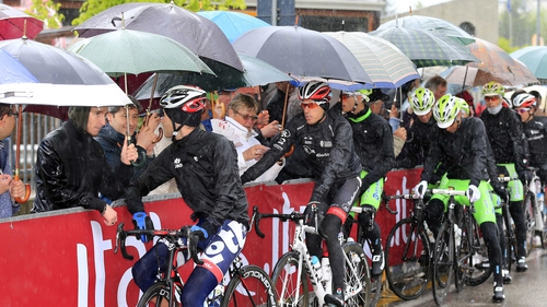 This year's race has been hit by bad weather, with torrential rain interrupting a number of previous stages