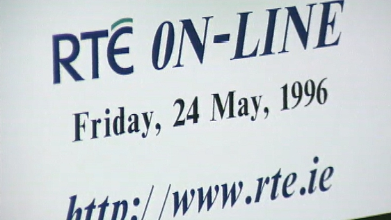 RTÉ launches an online service www.rte.ie on 24 May 1996.