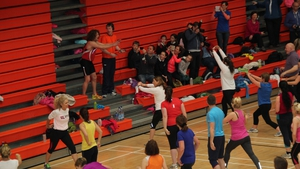 Where's Hector? Can you spot him (orange T-shirt) beside The Gym's Richie Clifford