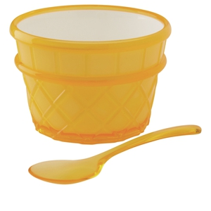 Marks & Spencer pack of four coloured ice cream bowls, €13. Available in stores or to order online. (Comes in yellow, green, red and blue)