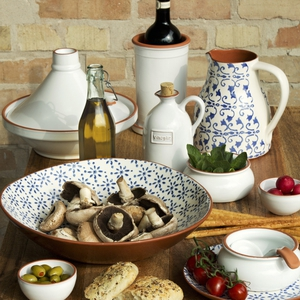 Dunnes stores selection of Paul Costelloe dining collections - Casblanca and Terracotta.
