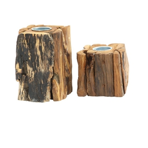 Country Life teak candle holders, €24.99, available in stores across Leinster and Munster
