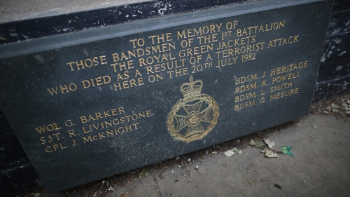 Four members of the Household Cavalry died along with seven horses in the 1982 attack