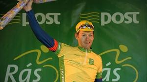 Marcin Bialoblocki retains the race leader's yellow jersey.