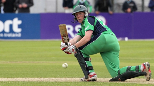 Kevin O'Brien hits the runs that secured Ireland a draw with Pakistan