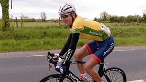 Marcin Bialoblocki was enjoying his time in the yellow jersey.