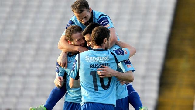 St Pat's celebrate Killian Brennan's goal